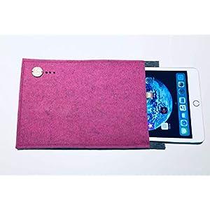 Apple iPad mini 4 Hülle aus regionalem Filz aus Österreich Handgemachte Zoll Tasche für Apple iPad mini 4 Colours and Dreams