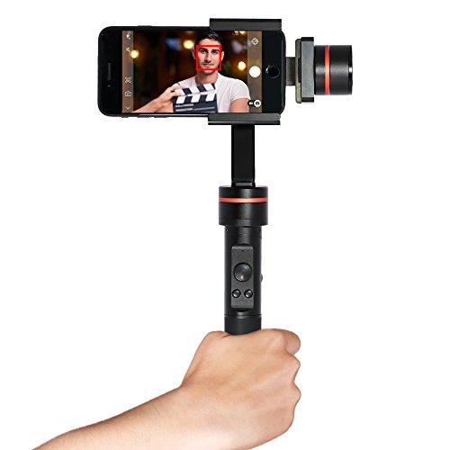 Studio- 3-AchsenHandheld Stabilisator bürstenlose Gimbal für Smartphones & Action-Cameras - Ruckelloses & einfaches Filmen, Teilen + Speichern Ihrer Handy-/GoPro-Videoaufnahmen (Geburtstag Direkten Bewertungen)