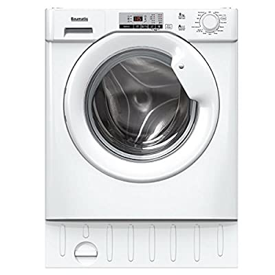 Baumatic BWMI148D-80 8kg 1400rpm Integrated Washing Machine - White