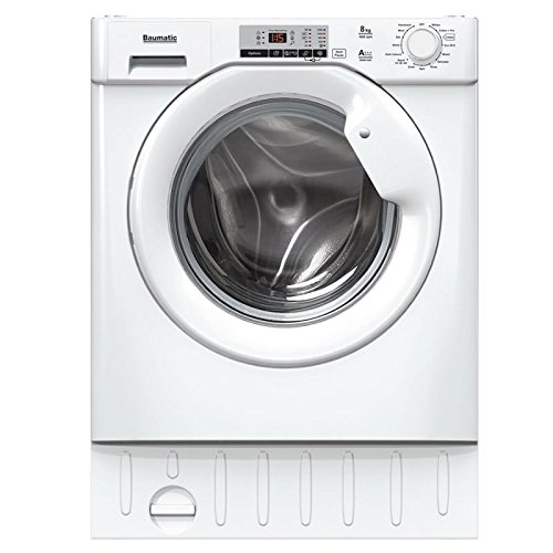 Baumatic BWMI148D-80 8kg 1400rpm Integrated Washing Machine - White