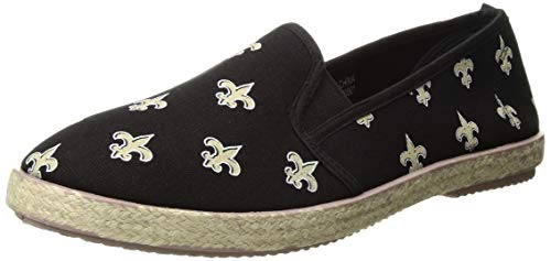 FOCO New Orleans Saints Espadrille Canvas Shoe - Womens Large
