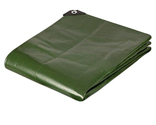 IXKES Premium Gewebeplane 200g für Garten, Camping, Freizeit, Weiss und grün 3x7m Grün