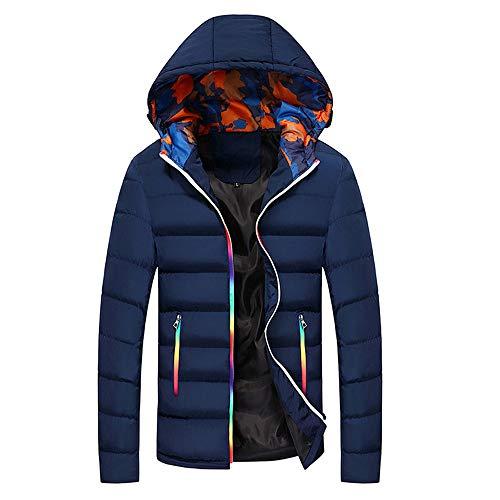Casual Warm Hooded Winter Farbwechsel Reißverschluss Outwear Top Bluse Kinlene Herenen T-Shirt