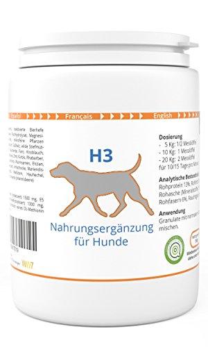 WW7 H3   Haut & Fell Formel für Hunde   150g Natürliches Premium Granulat