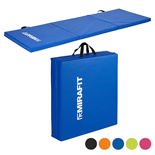 Mirafit Tappetino pieghevole da allenamento - per fitness/esercizi/yoga/pilates - Scelta di colori