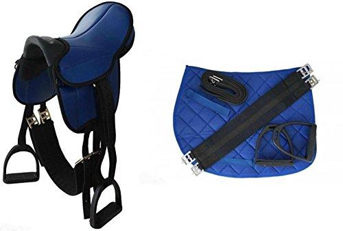 Kinder Sattel Reitsattel Pferdesattel für Pony oder Holzpferde Komplettset inkl. Gurt und Bügel