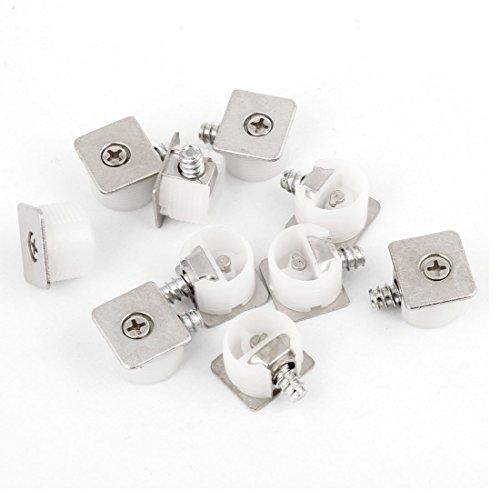 Weißes Regal-unterstützung (10PCS verdeckter MOUNTING BOARD Kunststoff Halterung Regal Unterstützung Weiß)