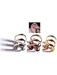 Lot 3 Faux piercing oreille couleur Doré / Bronze / Argenté
