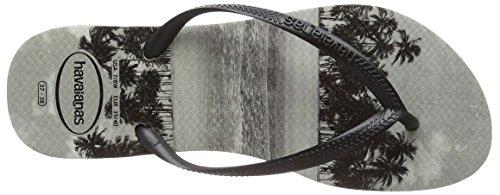 Havaianas Slim Photoprint, Sandales Plateforme femme Noir (Noir 0090)