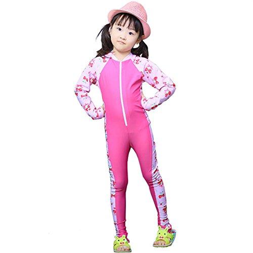 MAIBU Kinder UPF 50+ Sunsuit Langarm Bademode Einteilige Bodysuit Badeanzug Alter 3-9 Jahre