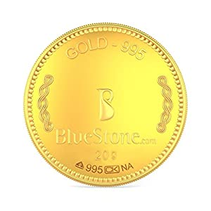 BlueStone BIS Hallmarked 20 grams 24k (995) Yellow Gold Precious Coin