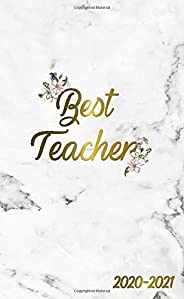 Best Teacher 2020-2021: 2 Year Monthly Pocket Planner & Organizer with Phone Book, Password Log and Notes | 24 Months Agenda