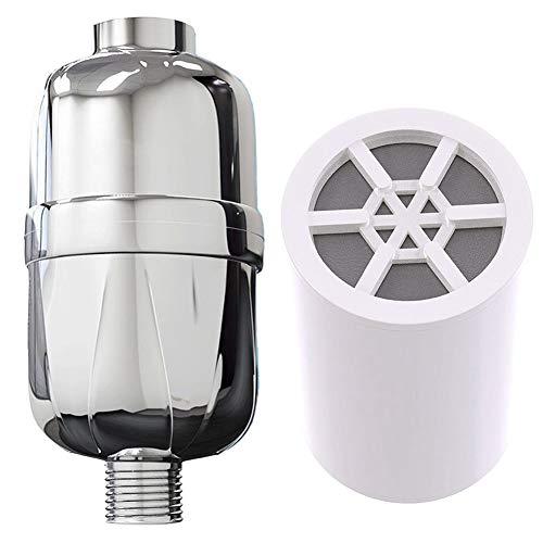Rfsbqlcs 8-Stufiger Duschwasserfilter, 95% Entfernung von Chlor- und Wasserverunreinigungen für gesünderes Haar und Haut - für Duschkopf und Handdusche -