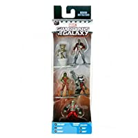 JADA - Nano Metalfigs Marvel 5 pack: Pack 2  (Star Lord, Rocket Raccoon, Gamora, Drax, Groot)