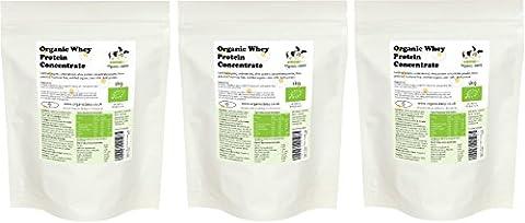 Organic Whey Protein Powder 3kg or 1kg - 80% Protein - Organic Daisy