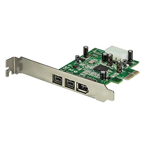 StarTech.com 3 Port 800+400 FireWire PCI Express Schnittstellen Combo Karte - PCIe 3 Port FireWire Card - PCI-e 1 x Firewire 400 1394A 2 x FireWire 800 1394B
