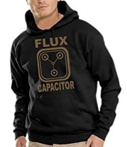 Back to the Future-Flux Capacitor Kapuzen Sweatshirt-Pullover S-XXXL Vergleich Color mehrfarbig Schwarz / Gold Large