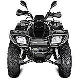 AUFGEBAUT 300cc Hunter 300-S2 mit Straßenzulassung 4X4 Winch 4x Federung ATV Bike (Camouflage-Army Grün)