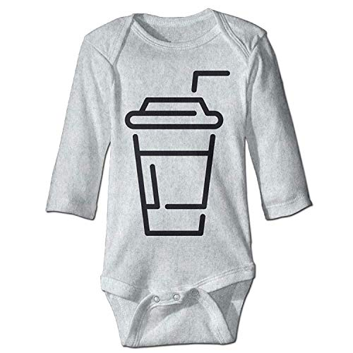 MSGDF Unisex Toddler Bodysuits Drink Sign Baby Babysuit Long Sleeve Jumpsuit Sunsuit Outfit Ash
