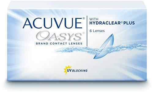 ACUVUE OASYS for Astigmatism Kontaktlinsen - 2-Wochen-Linsen für Tag und Nacht mit -6 dpt, Cyl -1.25, Ach 180 & BC 8.6 - UV Schutz, Austrocknungsschutz & hoher Tragekomfort - 6 Linsen