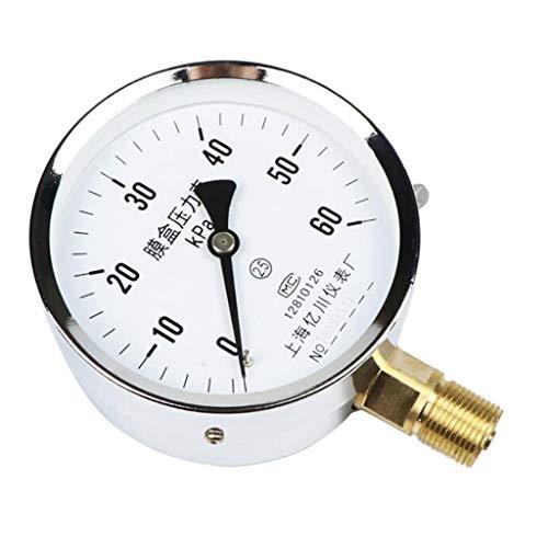 H HILABEE 4 Zoll Kapsel Millibar Tauchmanometer Für Luftgas Edelstahl - 0-60 kpa -