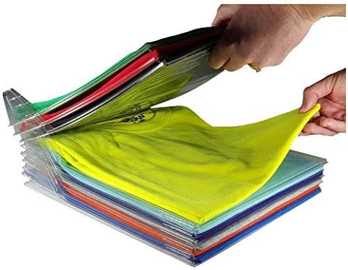 Organizer per armadio, um closet organizer camicia cartella | dimensioni regolari, 10-pack