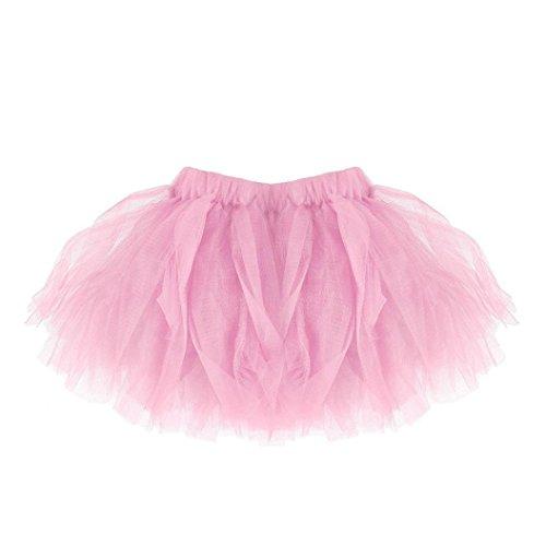 tutú niña, K-youth® vestidos de fiesta para niñas tutu bebe niña tutu ballet niña tulle ballet tutú falda niñas falda de tul tutú clásica de ballet para disfraz fiesta (Rosa)