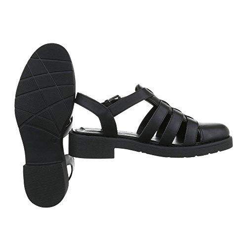 Ital-design - Chaussures Noires À Bride De Cheville Pour Femme