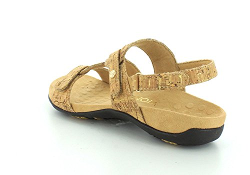 Vionic Womens Rest Paros Synthetic Sandals Gold Cork