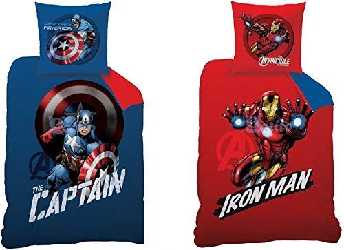 Avengers 044765 Mission Reversible Parure de lit, Coton, Multicolore, 140 x 200 cm