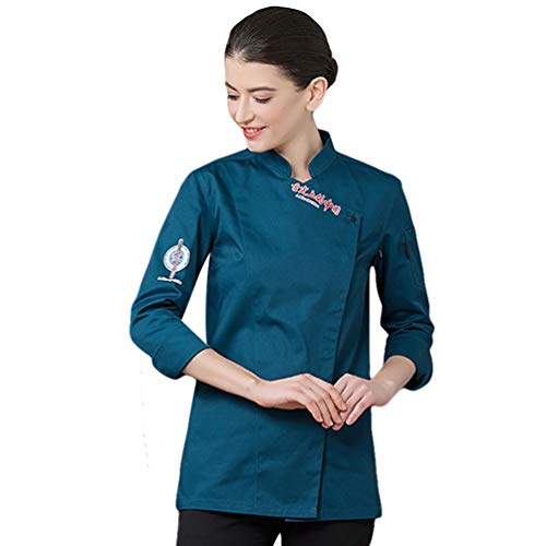 Dooxii unisex donna uomo autunno manica lunga giacca da chef professionale torta di cottura mensa hotel uniformi divise da cuoco