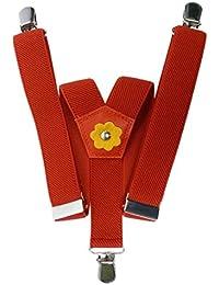 Olata Tirantes 'Y-Forma' para los Niñas 1-5 años, Flor Diseño