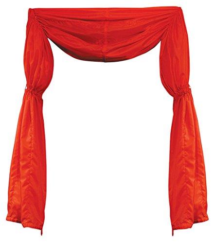 Beistle 54887-r Stoff Vorhang/Wimpelkette, 12', rot, 1Stück Pack
