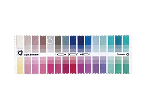 farbkarte sommertyp Stoff-Farbpass für Farbtyp Sommer als Brillenputztuch mit 30 typgerechten Farben zur Farbanalyse, Farbberatung, Stilberatung
