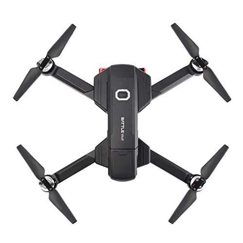 Jfhrfged wifi 5g con quadricottero drone pieghevole 4k hd brushless rc + batteria aggiuntiva due (nero b)