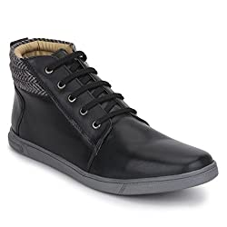 Knotty Derby Mens Black Sneakers - 6 UK/India (40 EU)