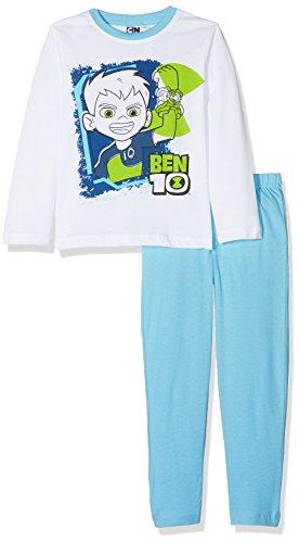 Cartoon Network Jungen Ben 10 Zweiteiliger Schlafanzug, Weiß Optic White, 8 Jahre