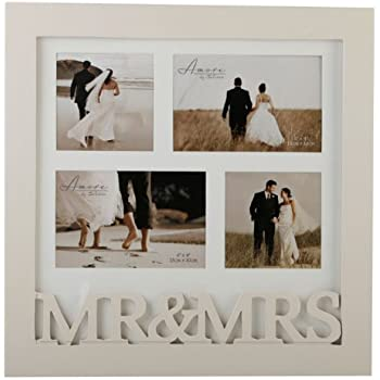 mr mrs wooden collage wedding photo frame gift by widdop bingham - Mr And Mrs Picture Frame