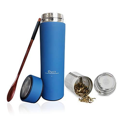 Botella de agua térmica infusor 450 ml + filtro para té infusiones +