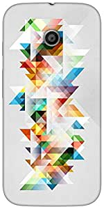 Snoogg Abstract colourful themeHard Back Case Cover Shield For For Motorola E 2nd Generation / Moto E 2nd