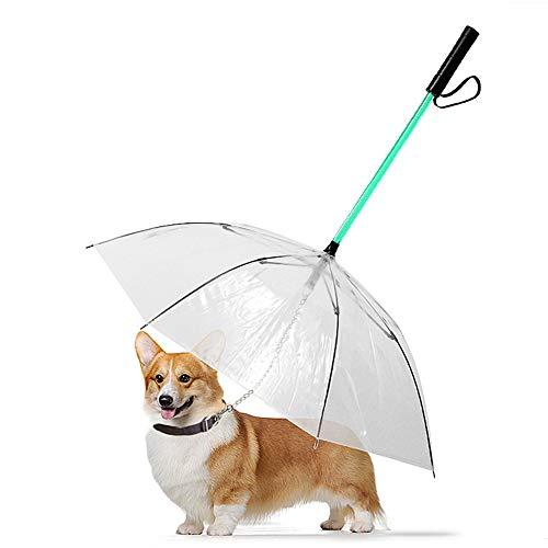DjfLight Hundeleine Mit Regenschirm,LED Starke Reflexnähte der Trainingsleine für Sicherheit Nachts,den Einsatz im Freien Jede Art von Hund Katze Spazieren, Laufen, Wandern, Training, Jagen.