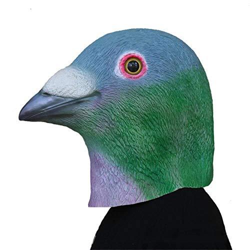 QJKai Halloween Maske Taube Maske Latex Maske Tier Kopfbedeckungen Prom Rollenspiel Requisiten