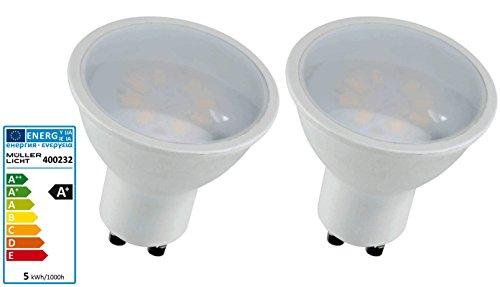 2 Stück LED Reflektorlampe GU10 5 Watt 230 Volt 2700 Kelvin - Müller Licht -