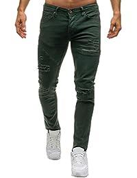 f490161b76487 Jean Skinny Homme Noir,Overdose Mode Pantalons Slim Hiver Automne Coton  Casual Denim Trousers Pants