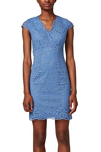 ESPRIT Collection Damen Partykleid 028EO1E030, Blau (Navy 400), 42