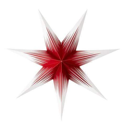IKEA STRALA Leuchtenschirm Stern in rot/weiß; (70cm)