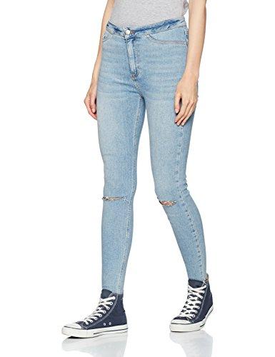 Fray Denim Jeans (New Look Damen Skinny Jeans Disco Fray Hem Light Blue, 42)