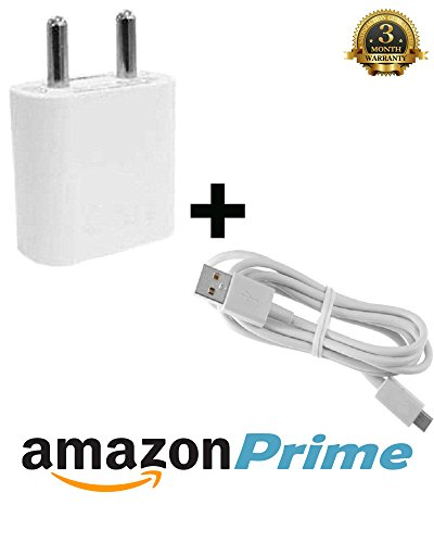 Stylish Fast Charger Adapter / Travel Charger / Mobile Charger With USB Cable Lowest Price (Smart Charger) - White Compatible with Panasonic Lumix DMC-CM1  available at amazon for Rs.399