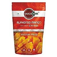 SnackWise Vacuum Fried Fruit Chips, Alphonso Mango, 30g