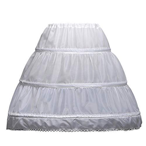 NNJXD Mädchen Fluffy Petticoat Hochzeit Kleider Krinoline Prom Unterrock Bustle